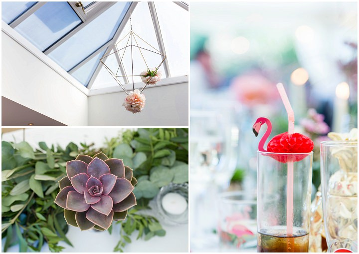 James and Stephanie's Elegant Bohemian Pink Flamingo Wedding in Solihull by Silverstar Photographic