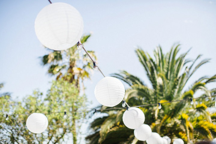Bright and Beautiful Sun Filled Ibiza Wedding by Belle and Beau with an outdoor ceremony, BBQ and a homemade dress