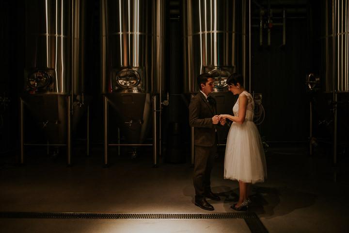 James and Ellen's Food Loving Brewery Wedding in Newcastle by Dan McCourt