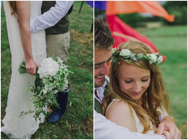 Amy and William's Festival Style Somerset Wedding with a Pink Tractor by Siobhan Amy Photography