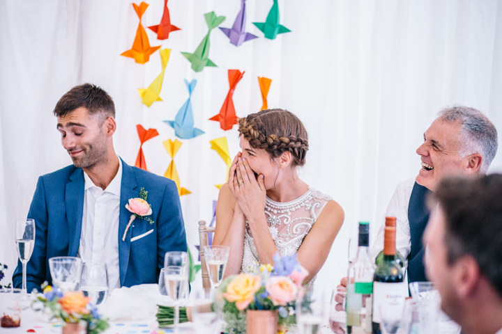 Melissa and Alex's Bright and Beautiful Multicoloured Bohemian Wedding by Heart Full of Tea