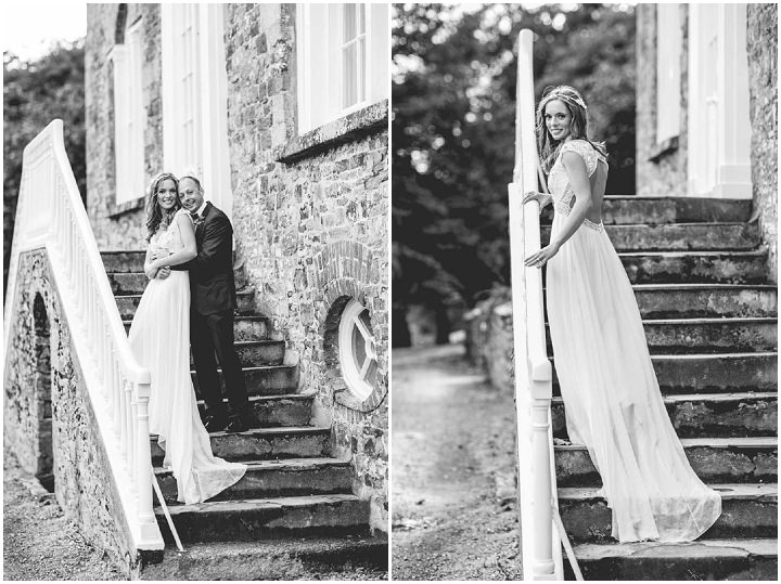 Katherine and Geoffrey's Rustic Glam Autumn Wedding in Devon at Launcells Barton