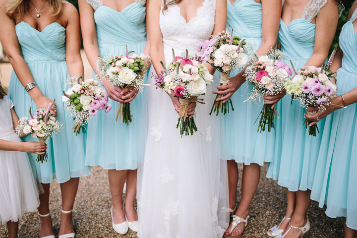 Giles and Harriet's Pretty Pastel Back Garden Wedding in Kent by Parkershots