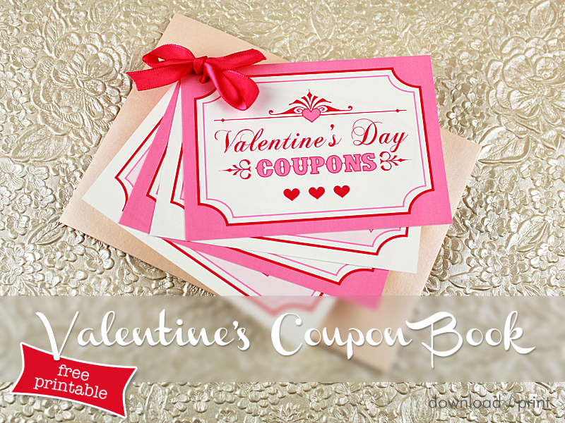 FREE Valentines Download – Valentines Coupon Book