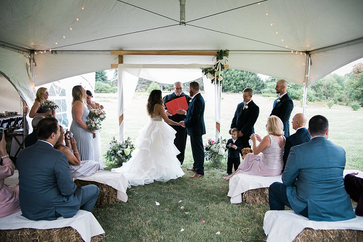Backyard New York Wedding in Hudson Valley by Sweet Alice Photography, with an intimate guest list and an outdoor ceremony