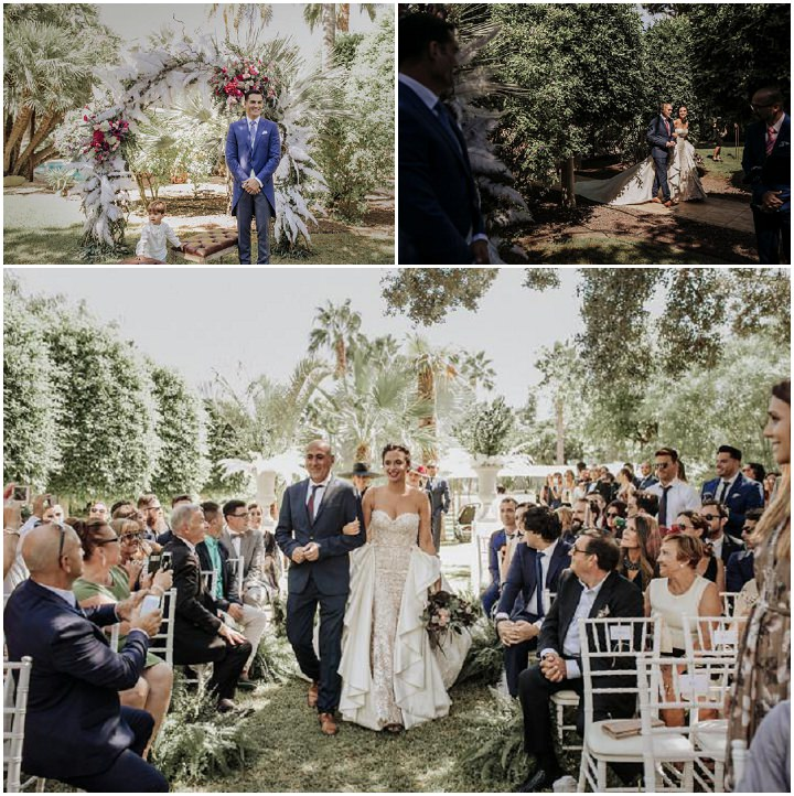 Super Glam Great GatsbyThemed Spanish Wedding by Oscar Guillen with a beautiful Ruben Hernandez gown planned by Paloma Cruz Eventos