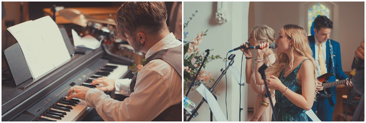 Music Loving, Pale Blue and Peach Tipi Wedding by James Green Photographer with music from Lianne La Havas