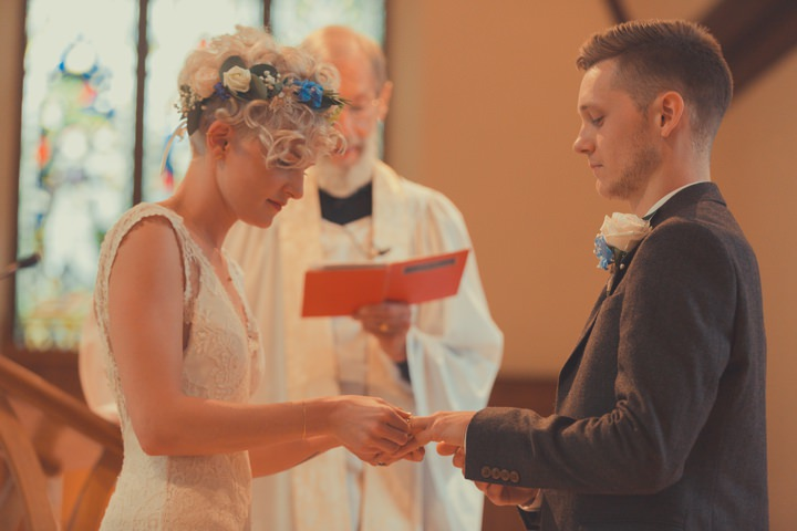 Scott and Faith's Music Loving, Pale Blue and Peach Tipi Wedding by James Green Photographer