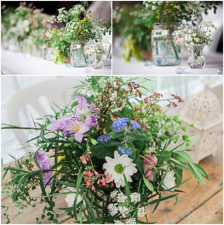 DIY Mismatched Rainbow Wedding in Cambridgeshire by Sophie Howard Photography, with home grown flowers