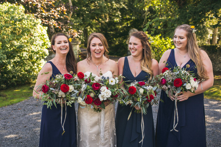 Northumberland Meets Australia Rustic Outdoor Wedding by Andy Hudson Photography with sunflowers and kilts