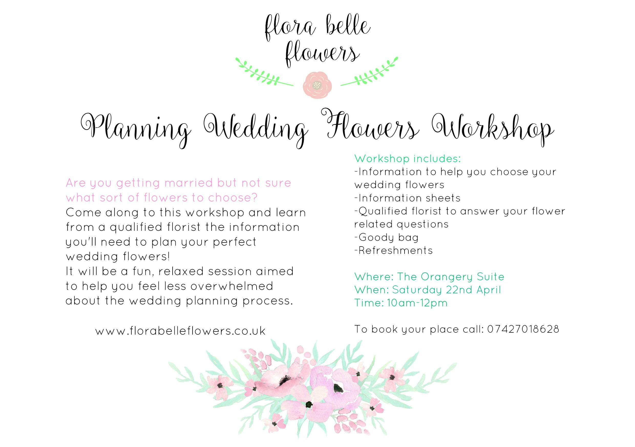 Planning wedding flowers workshop dorset boho weddings for the the price for the workshop will vary to how many people come more people cheaper price junglespirit Image collections