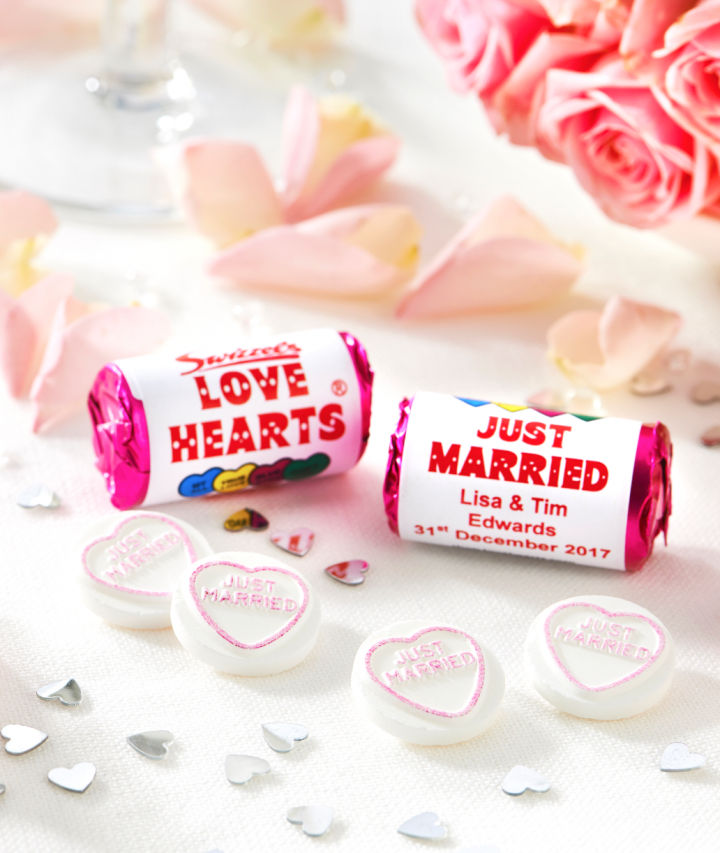 Love Heart Sweets, our Exclusive Boho Competition to Win 200 Personalised Wedding Love Hearts