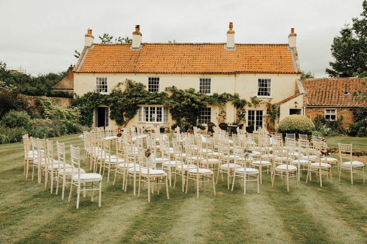 Handmade Vintage loving Back Garden Wedding in North Yorkshire by Patrick Phillips with a handmade dress and homegrown flowers.