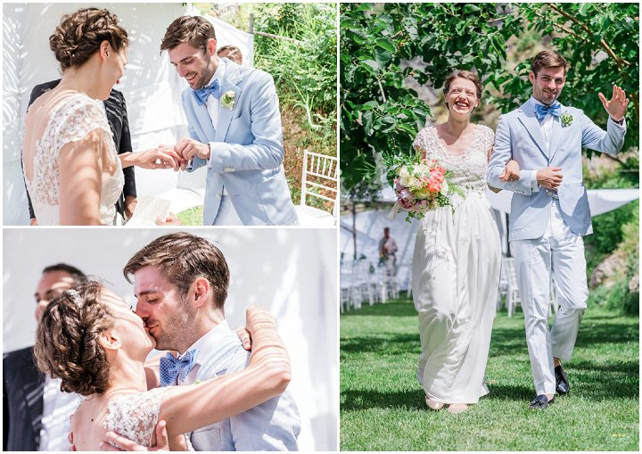 Beautiful Outdoor Summer Wedding in Sicily by Hilo and Ginger Photography, with outdoor garden ceremony and outdoor reception
