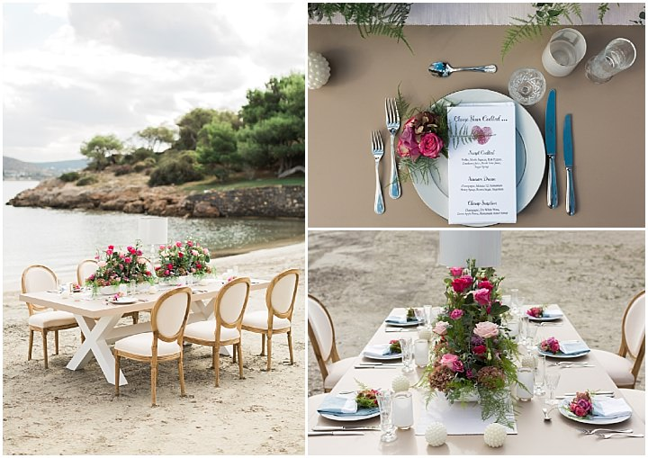 Romantic Athens Riviera Beach Wedding Inspiration