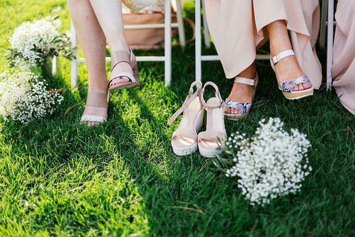 Beautifully Natural Outdoor French Wedding by Rose Fuschia Photographie with an outdoor ceremony and lots of handmade items.