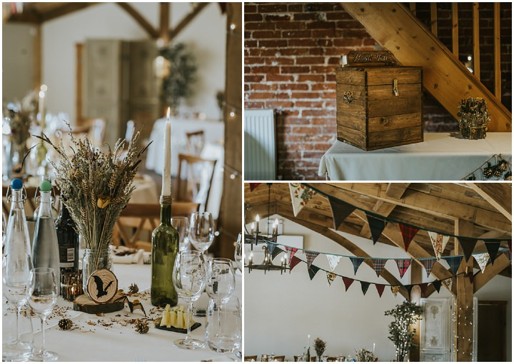 Earthy and Rustic Autumn Wedding by French Connection Photography, with dried flowers, tattoos all planned in 4 months.