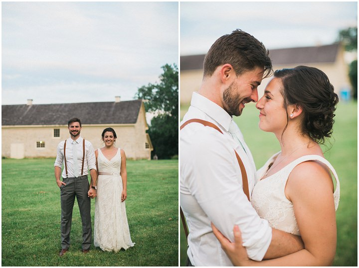 Rustic Wedding in Wisconsin by Uttke Photography & Design with an outdoor ceremony and barn reception