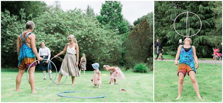 'Boho meets Vintage' Festival Wedding in Bolton by Petal and Blush Artistry, with live bands, face painting and a vintage wedding dress