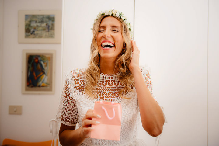 Classic and Boho Chic Sardinia Wedding by Valeria Mameli, with flower crowns and a bohemian bride.