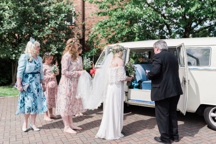 Kezia and Paddy's 'Boho meets Vintage' Festival Wedding in Bolton by Petal and Blush Artistry