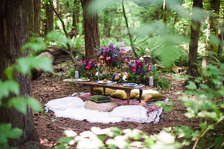 Woodland Boho Wedding Inspiration with Beachside Cake Cutting