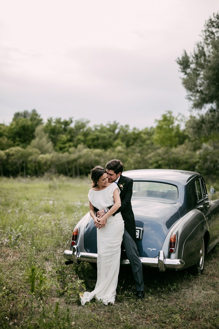 Adriana and Jordi's Simple, Natural and Elegant Spanish Wedding with Two Wedding Dresses by Sara Lobla