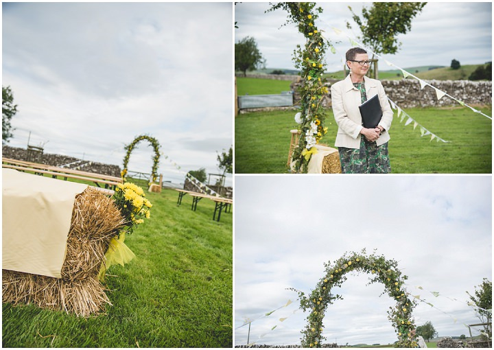 Weekend Long Outdoor DIY Derbyshire Wedding by Toast Photography with a rustic green and yellow colour scheme.