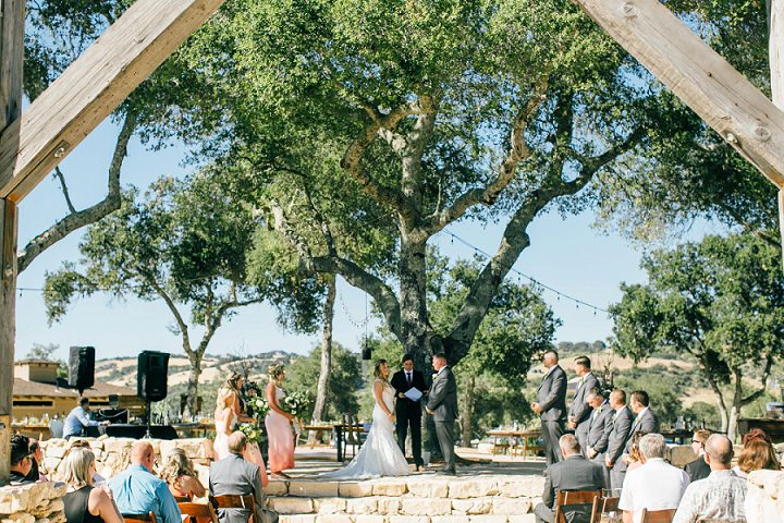 Chloe and Matt's Vintage Bohemian Mountaintop Wedding in California by Hannah Kate Photography