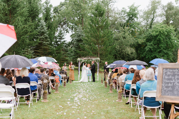 Rainy Outdoor Woodland Themed Wedding by Beth Joy Photos