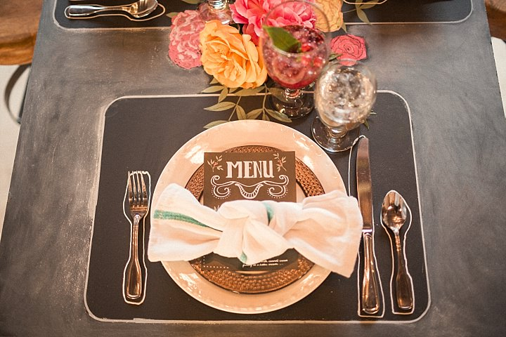 Art Explosion Chalkboard Wedding Inspiration