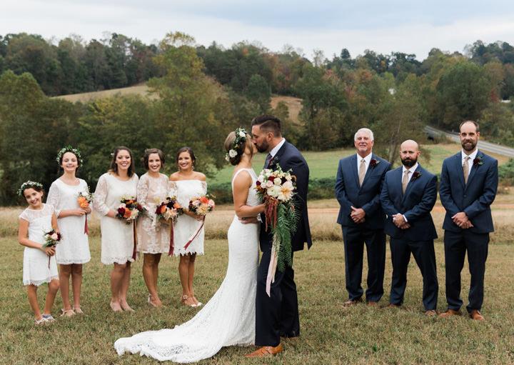 Bare Foot Fall Wedding in North Carolina by Gabrielle Von Heyking