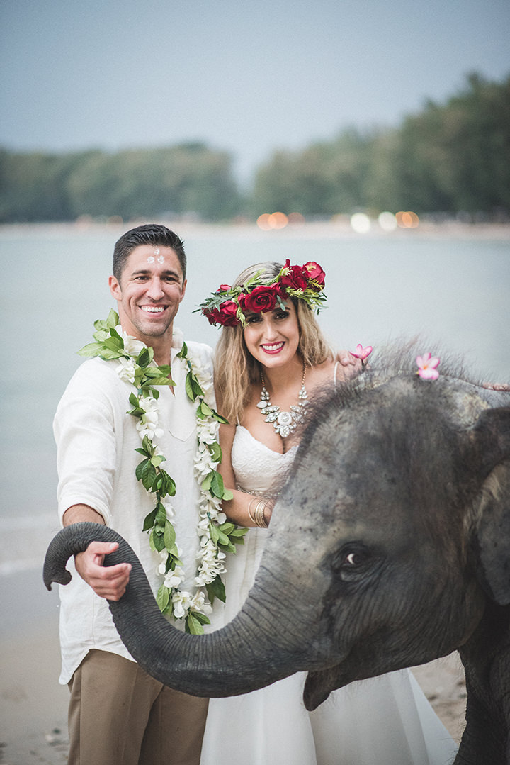 Beautiful Thailand Elopement with the Cutest Baby Elephant and traditional ceremony by Wedding Boutique Phuket