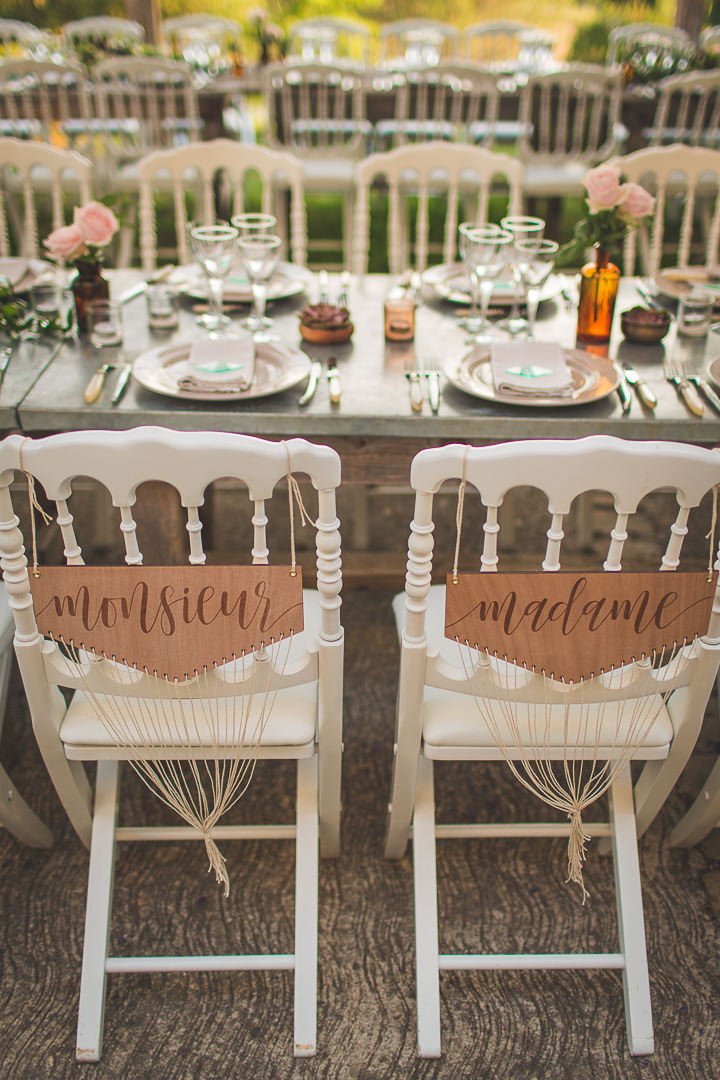 Beautiful Boho Chic Outdoor French Wedding by Camille Marciano
