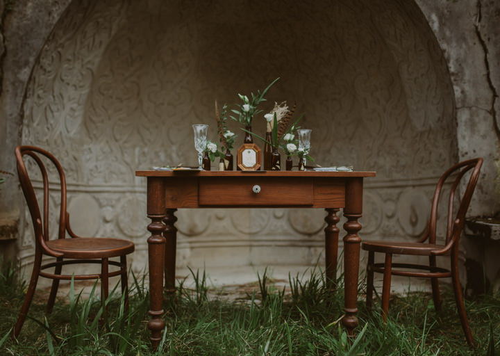 Vintage Natural Boho Inspiration with Geometric and Gold Details