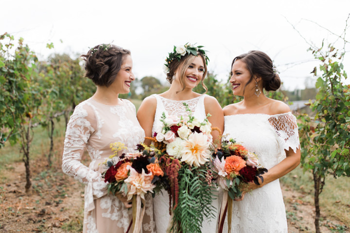 Bare Foot Fall Wedding in North Carolina by Gabrielle Von Heyking