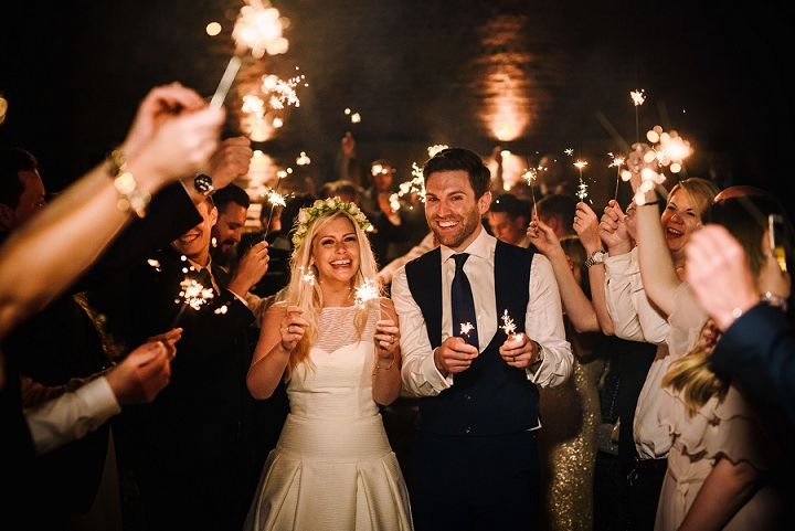 Louise and Robin's 'Elegant Whimsy' Flower Filled White and Rose Gold Wedding by Andy Gaines