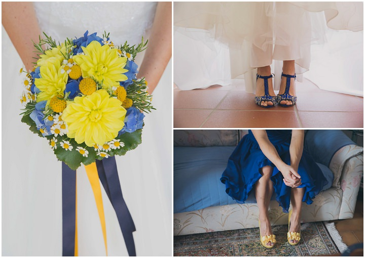 Alice and Marco's Brilliant Blue and Yellow Italian Wedding by Samanta Tamborini