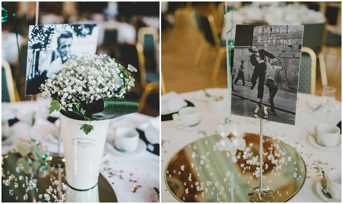 Clare And Adams Informal Vintage Emerald Green Music Themed