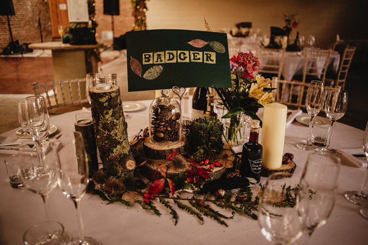 Homespun Woodland Themed Autumn Wedding by Andy Gaines