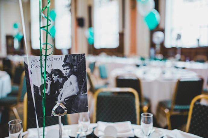 Clare and Adam's 'Informal Vintage' Emerald Green Music Themed Wedding by Rachel Joyce Photography