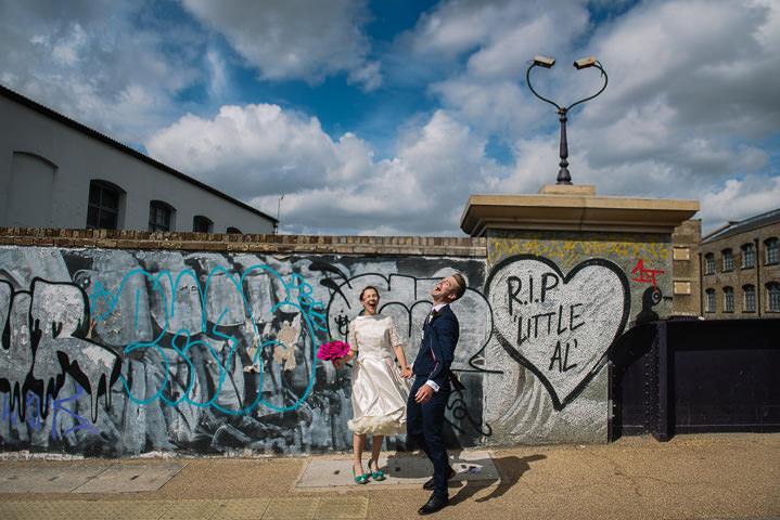 Relaxed, Joyful, Colourful and Fun Hackney Wedding by Jonny Barratt