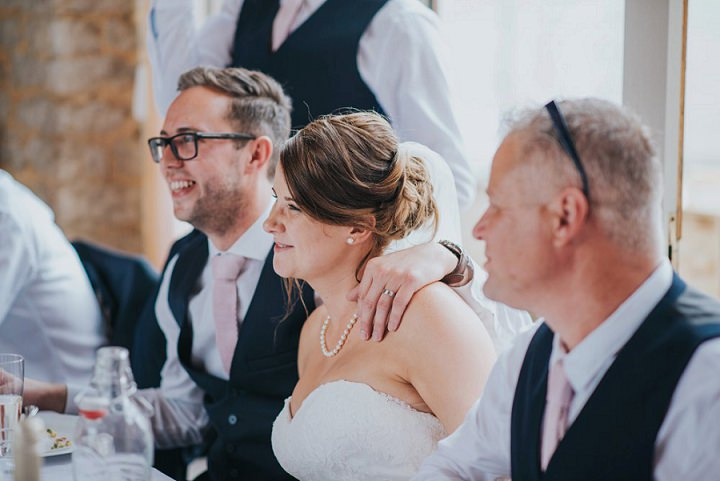 Vintage Inspired Pink and Navy Barn Wedding in Oxfordshire by This and That Photography