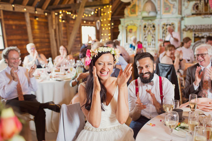 Christa and Viren's Pink and Orange Extravaganza at Preston Court by Cotton Candy Photography