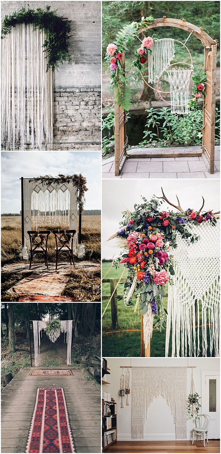 Ideas and Inspiration for your Boho Macramé Theme Wedding