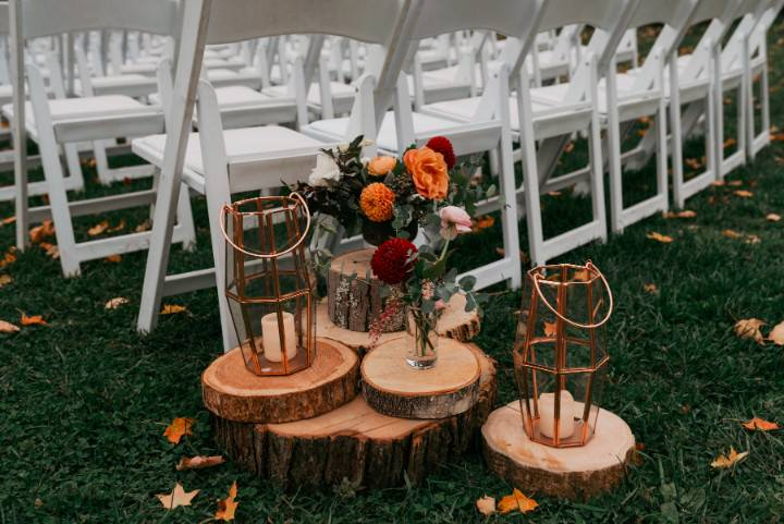 Rose Gold New York Barn Wedding by Rick Messina Photography