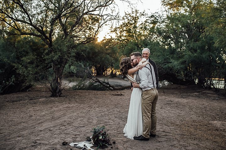 Romantic, Intimate Desert Elopement in Arizona by Beginning and End Photography