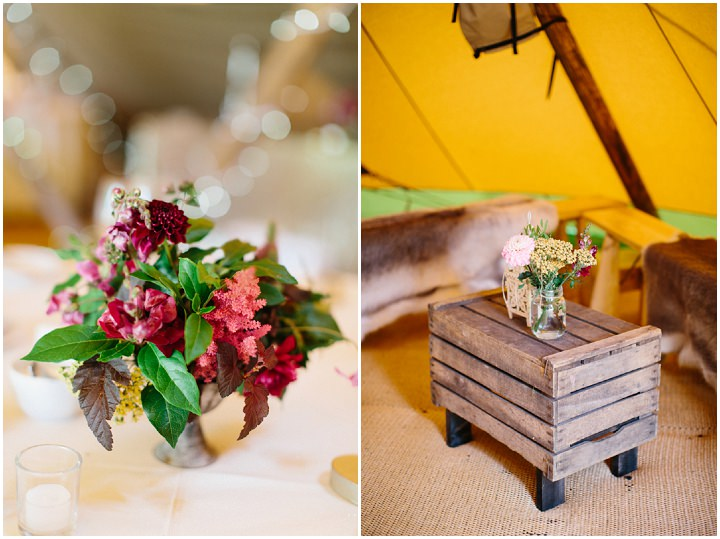 Beautiful Bohemian Outdoor Tipi Wedding by Melissa Beattie
