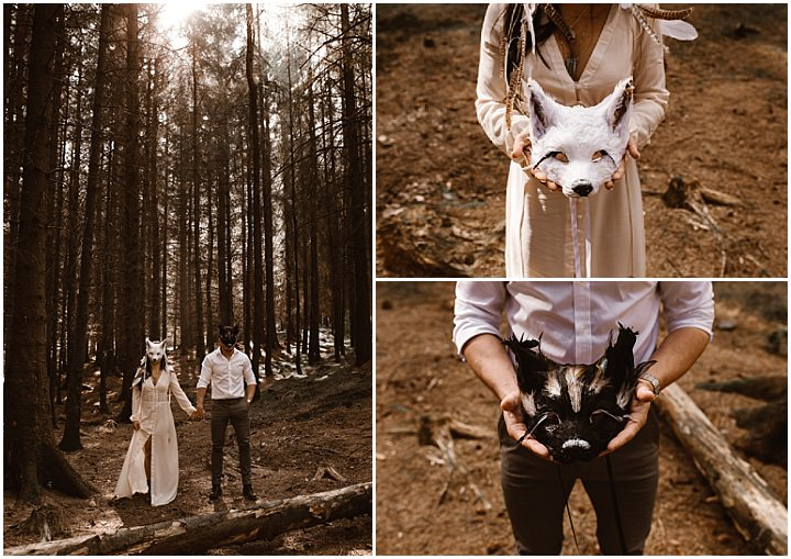 Whimsical Woodland Lake District Elopement Inspiration from Agnes Black