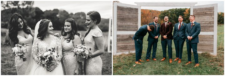 Nicholas and Alexandra's Rose Gold New York Barn Wedding by Rick Messina Photography